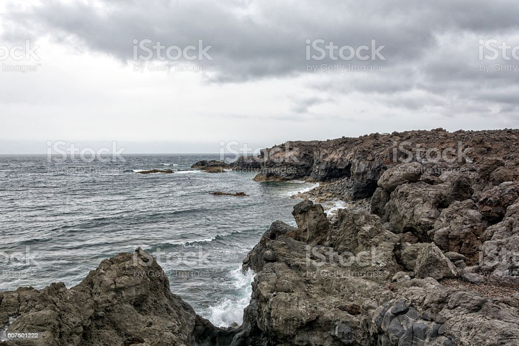 Los Hervideros -  Lanzarote, Canary islands stock photo