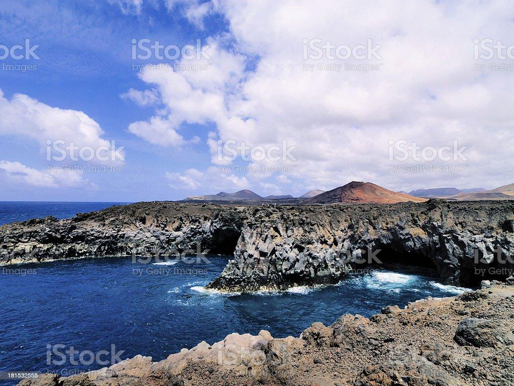 Los Hervideros, Lanzarote stock photo