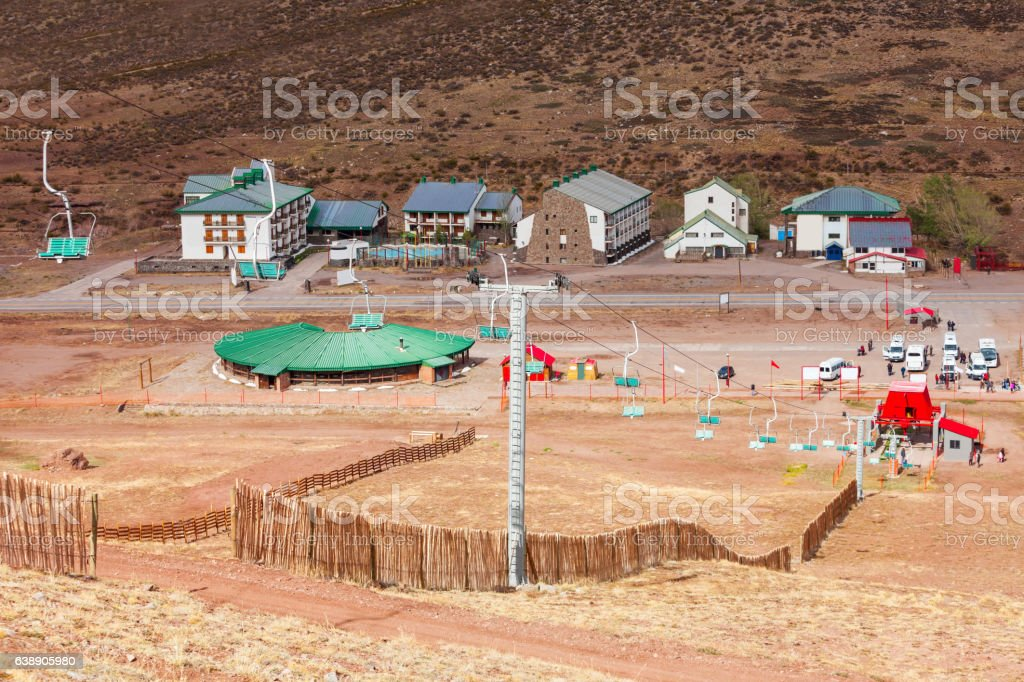 Los Penitentes ski resort stock photo
