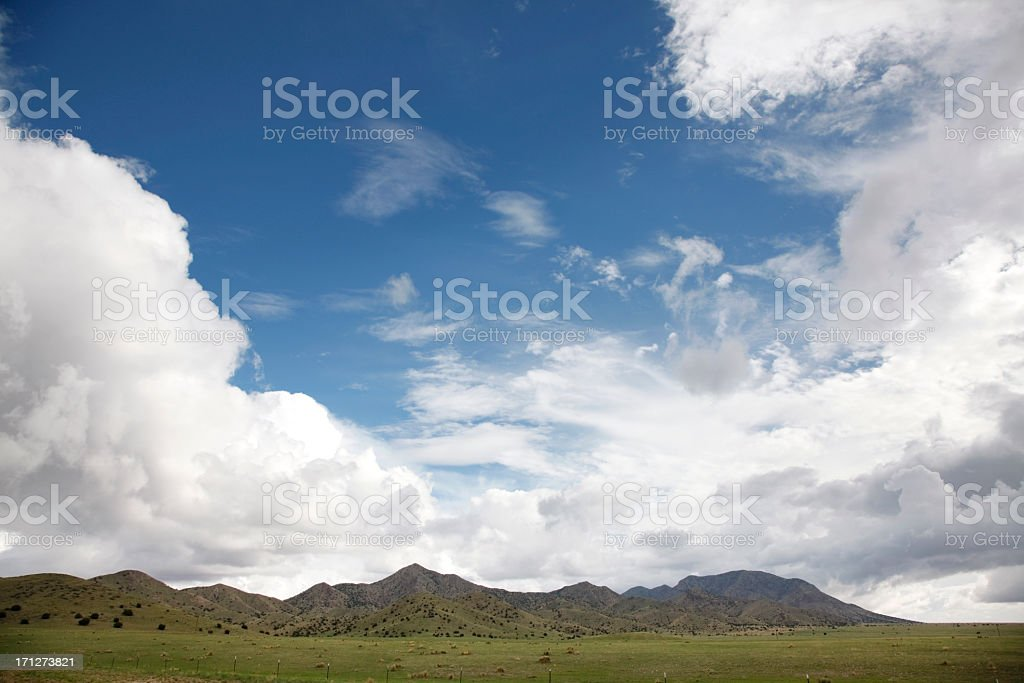 Los Pi?os Mountains with Clouds stock photo