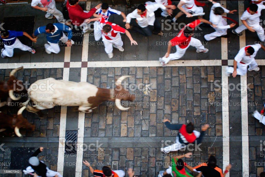 Los sanfermines, Pamplona stock photo