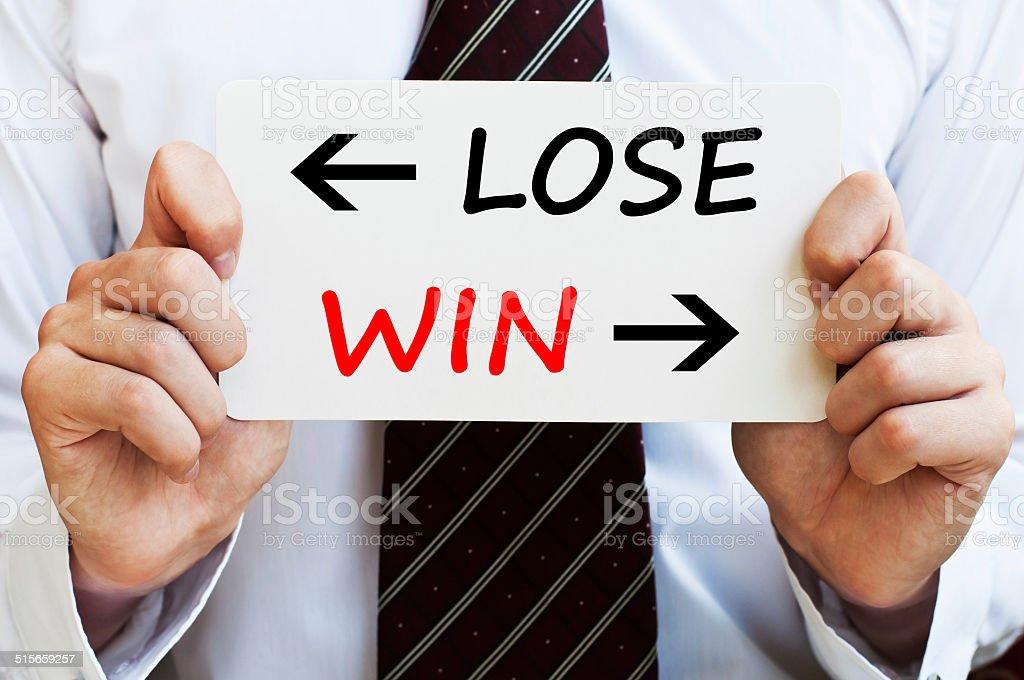 Lose or Win stock photo