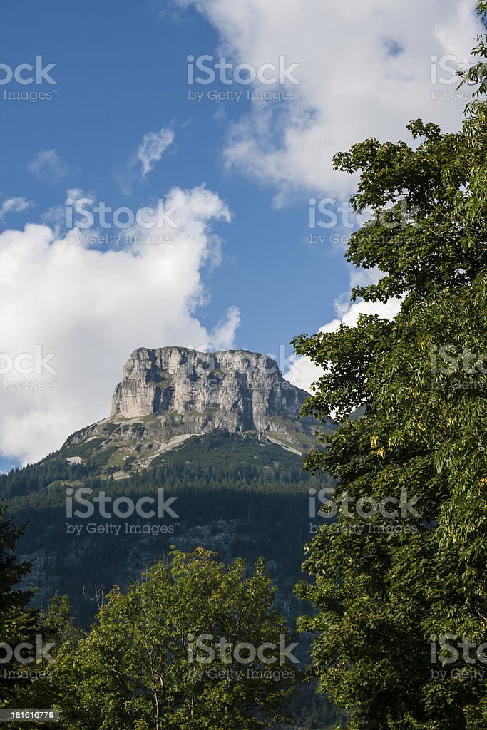 Loser Mountain in Lake Altaussee stock photo