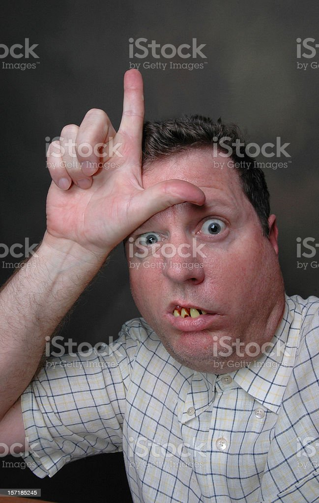 Loser! stock photo