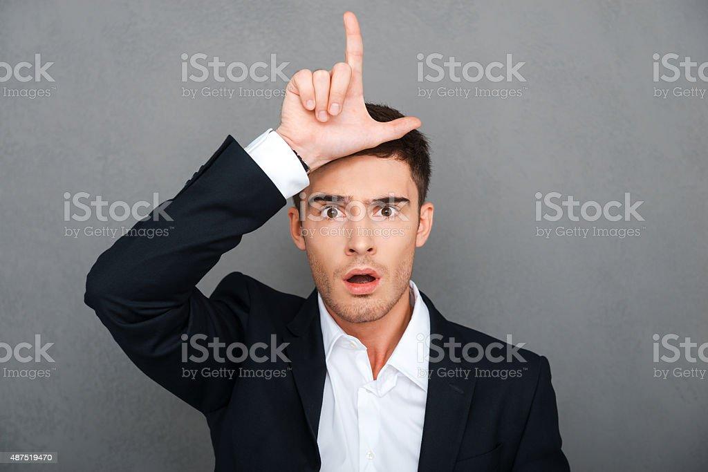 Loser! stock photo