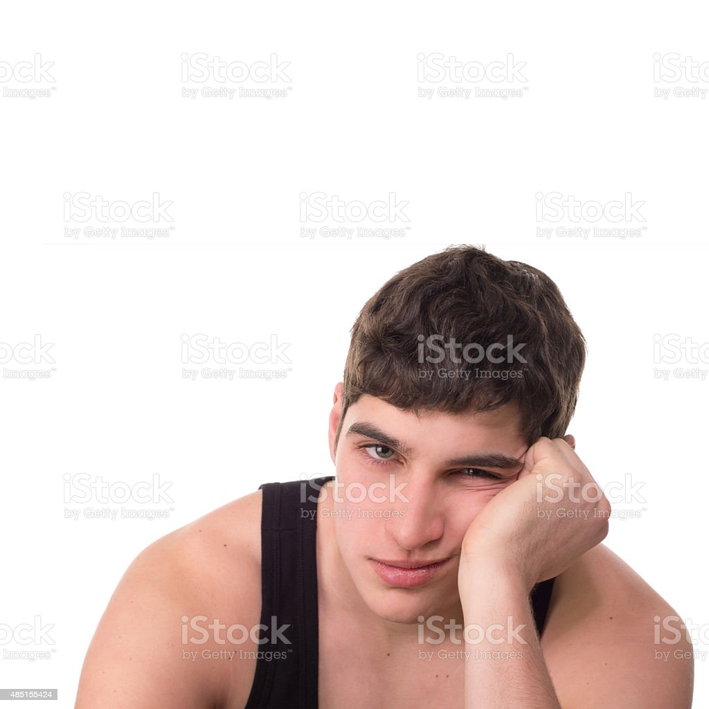 loser young man man  depression  boring stock photo