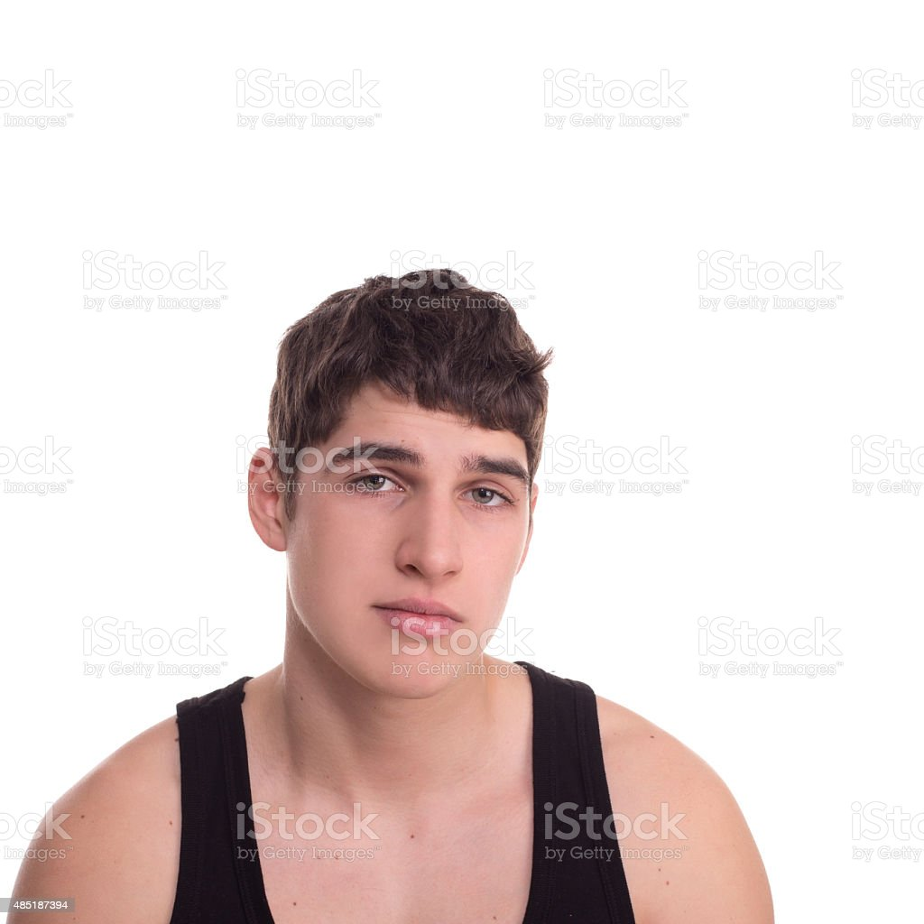 loser young man sad stock photo