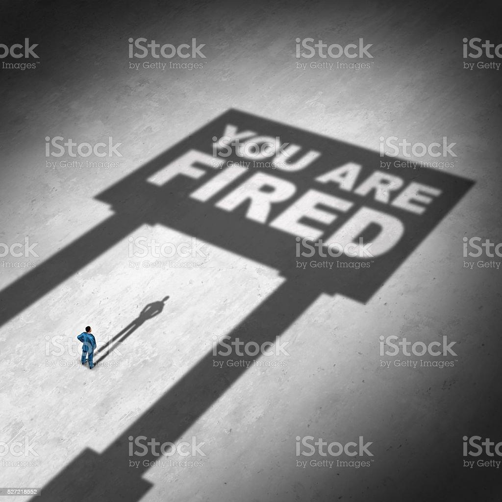 Losing A Job stock photo
