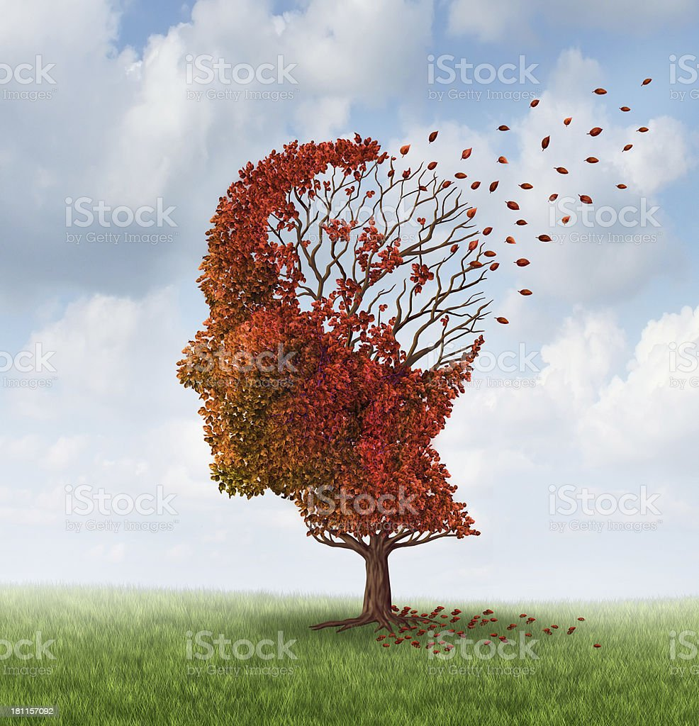 Losing Brain Function stock photo