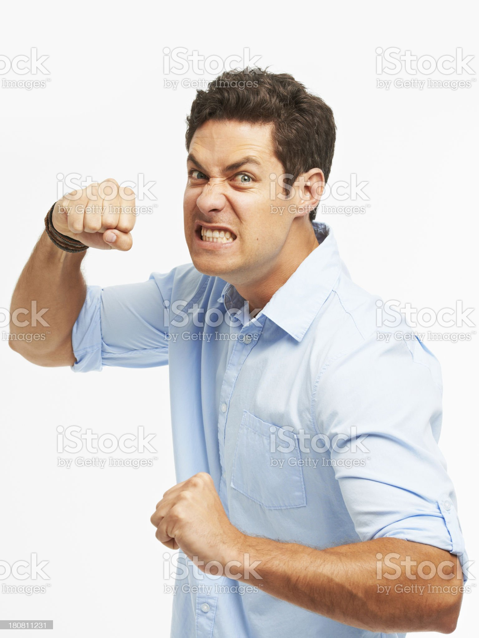 Losing his cool royalty-free stock photo