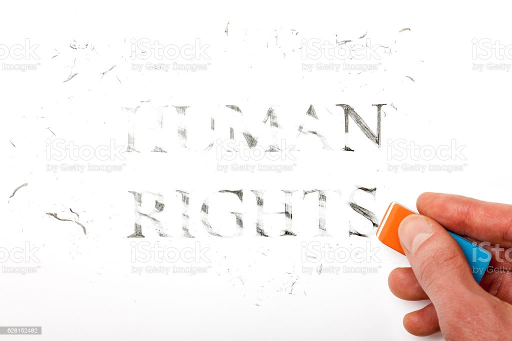 Losing Human Rights stock photo
