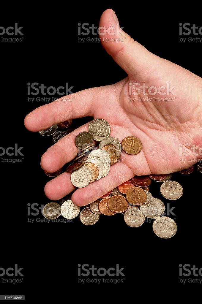Perdendo dinheiro foto royalty-free