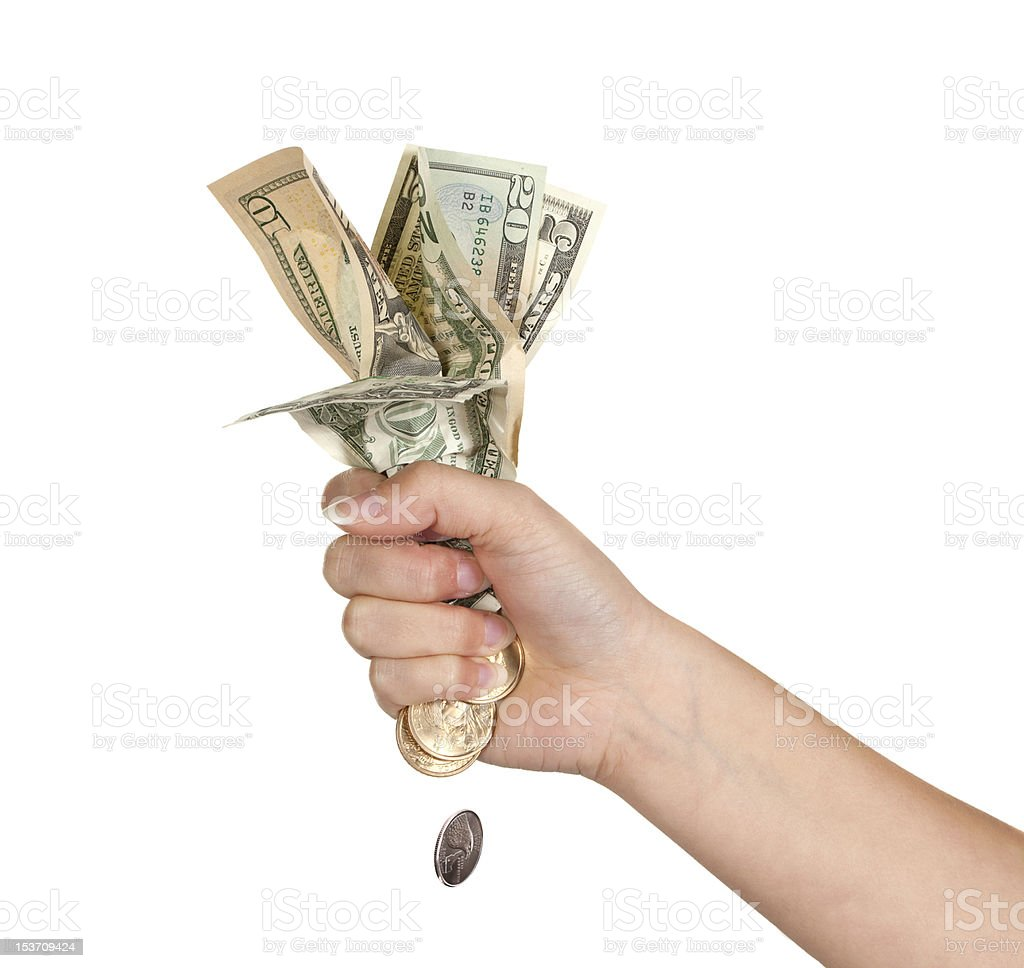 Losing money royalty-free stock photo