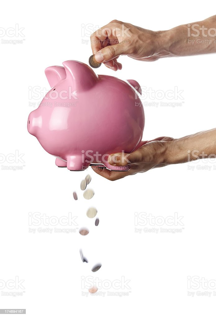 Losing Money stock photo