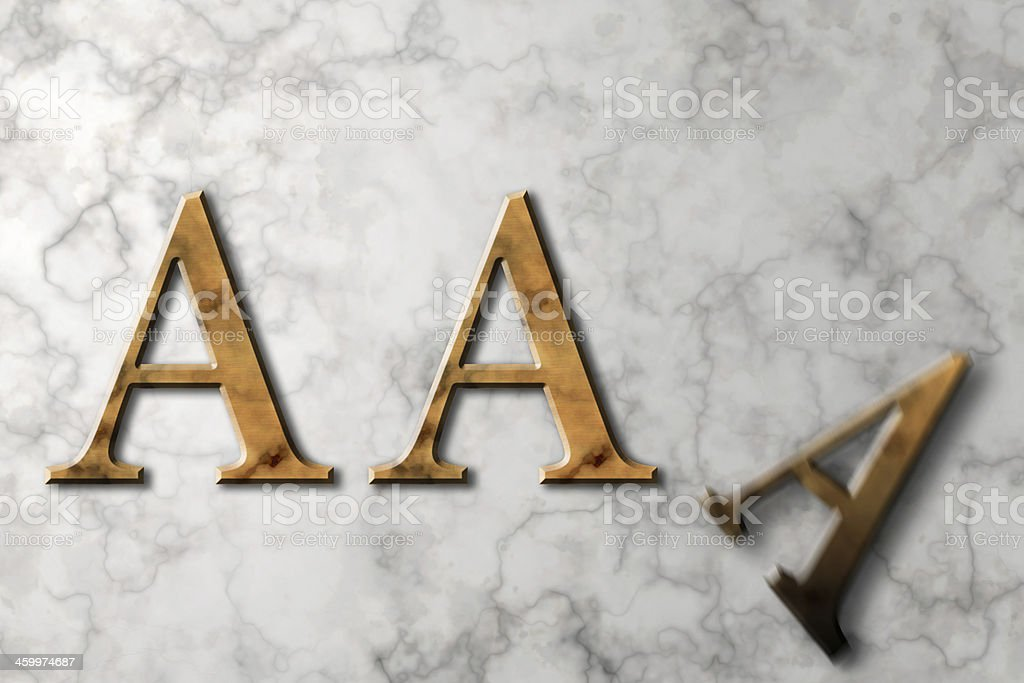 Losing Triple A Credit Rating stock photo