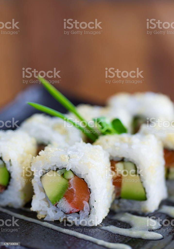Losos sushi stock photo