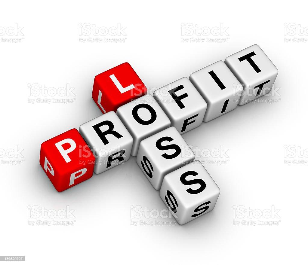 loss and profit stock photo