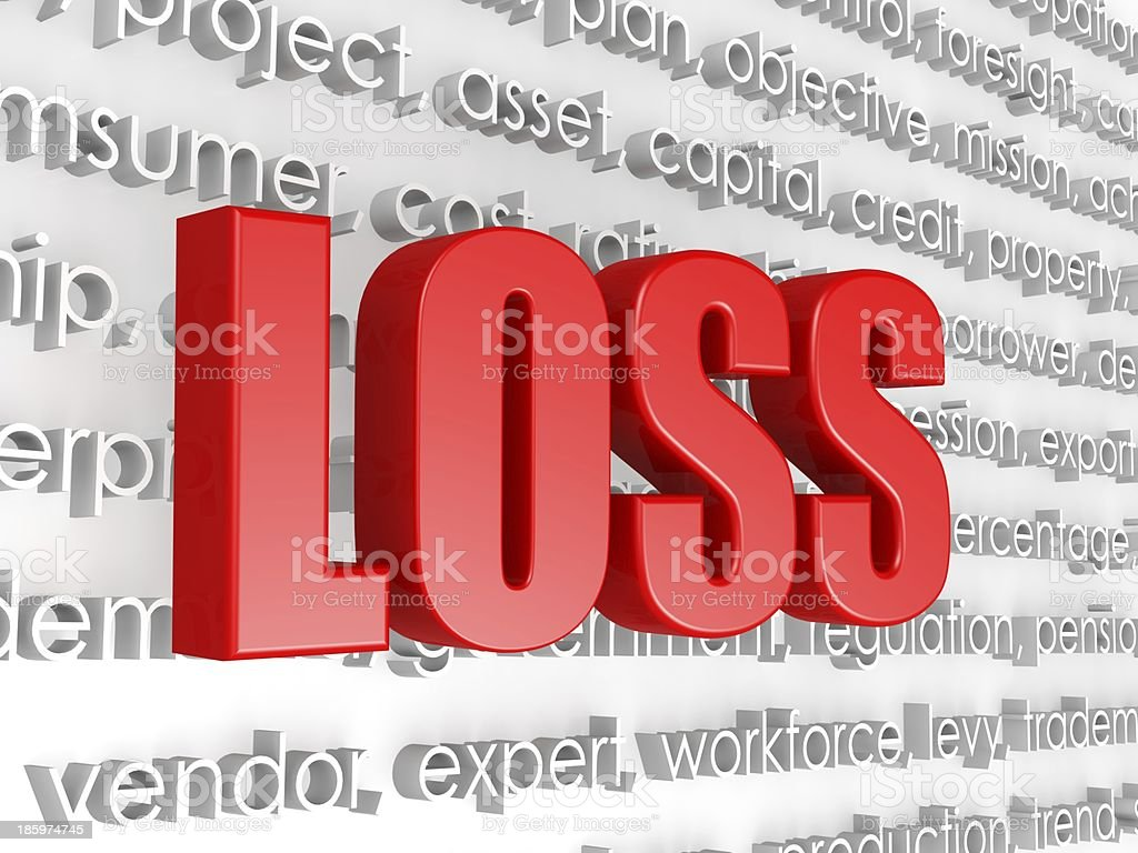 Loss in word cloud royalty-free stock photo