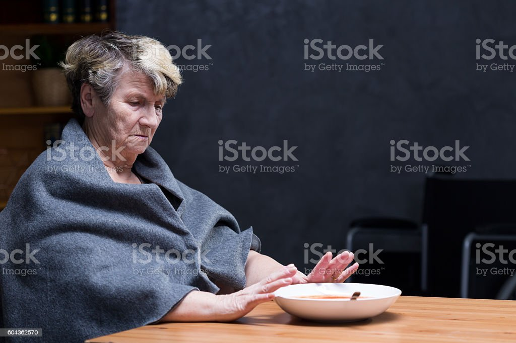 Loss of appetite stock photo