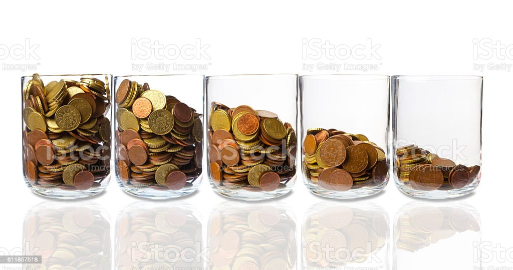 Loss of Income stock photo