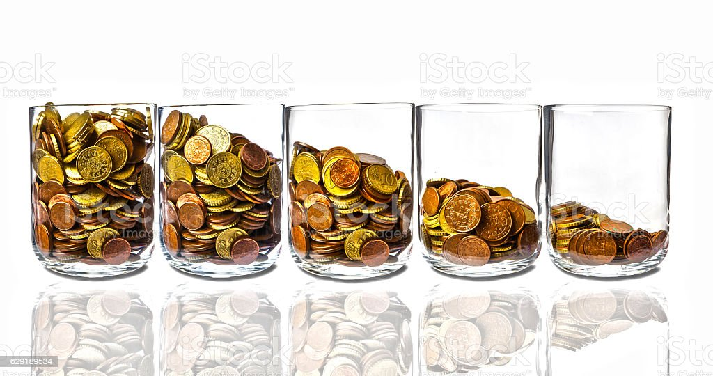 Loss of Income stock photo