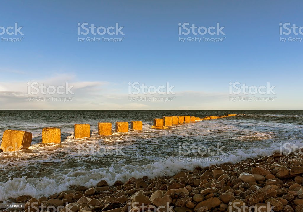 Lossiemouth, East beach in winter. stock photo
