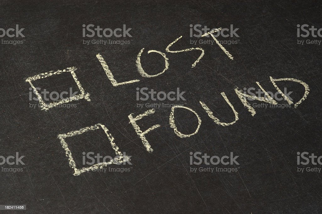 Lost and Found Checkbox royalty-free stock photo