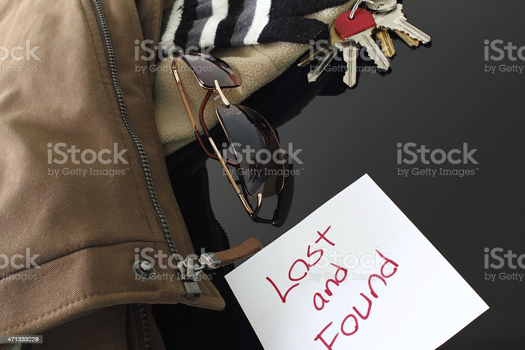 Lost and Found royalty-free stock photo
