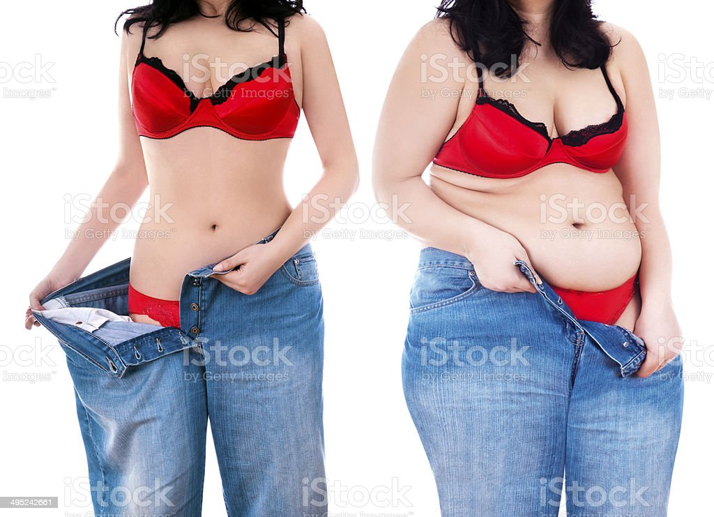 Lost and Gained weight royalty-free stock photo