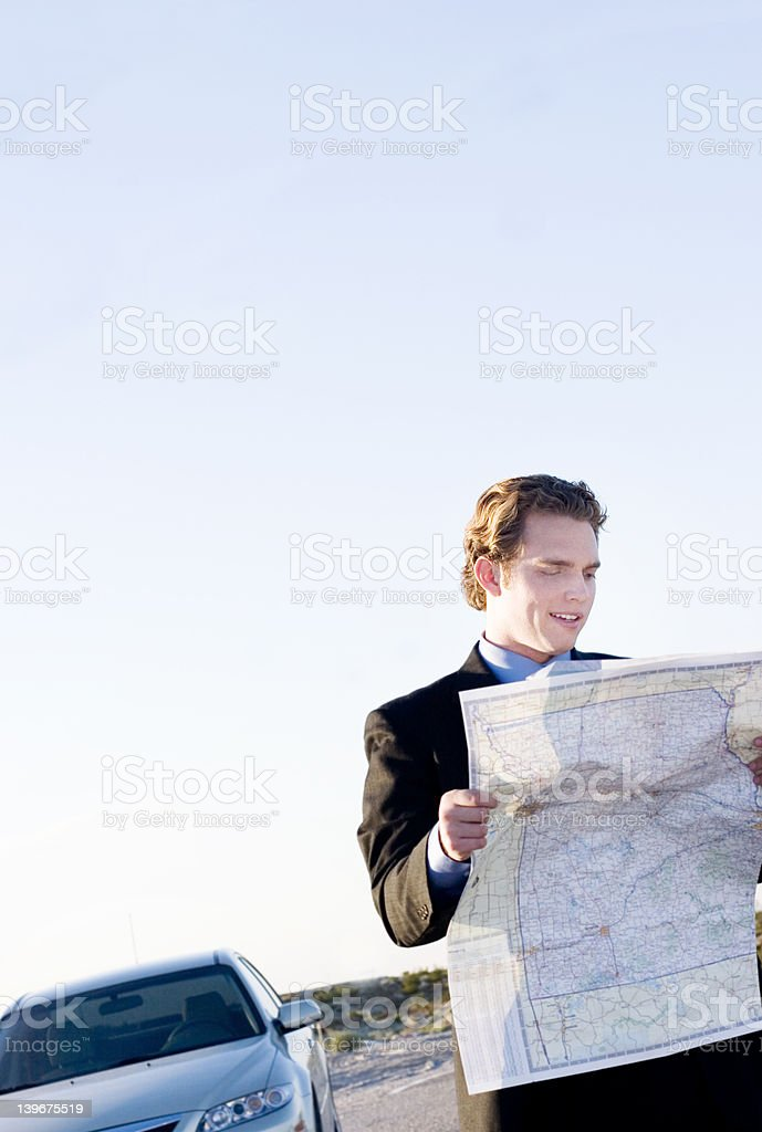 lost business man royalty-free stock photo
