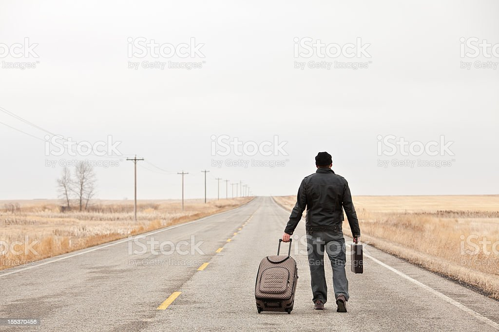 Lost Business Traveler royalty-free stock photo