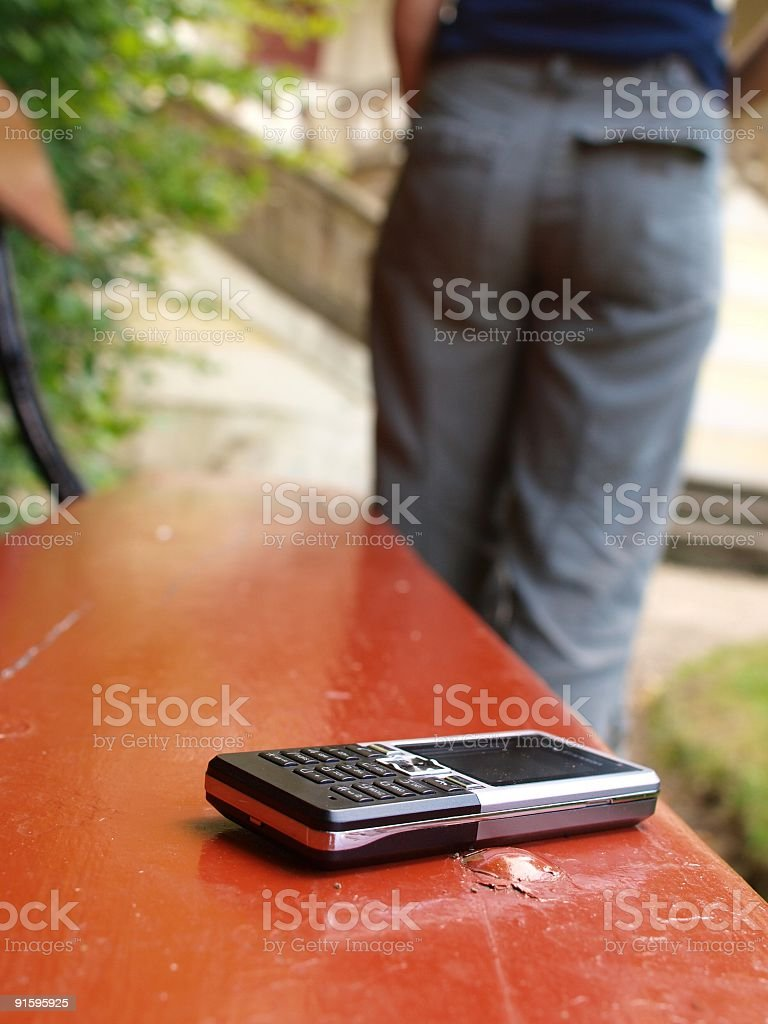 Lost cell phone stock photo