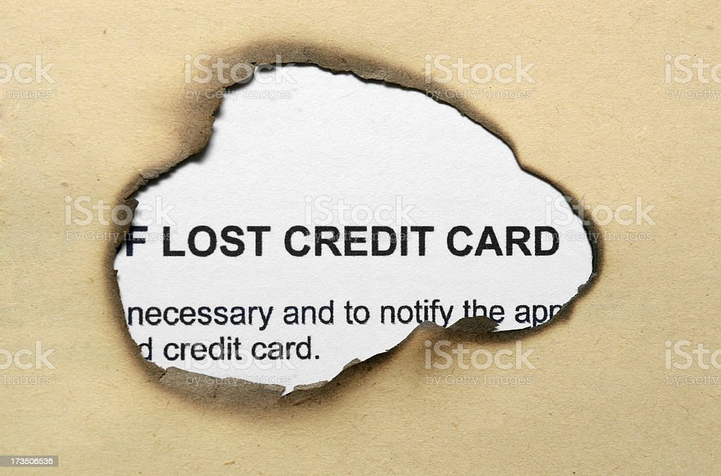 Lost credit card royalty-free stock photo