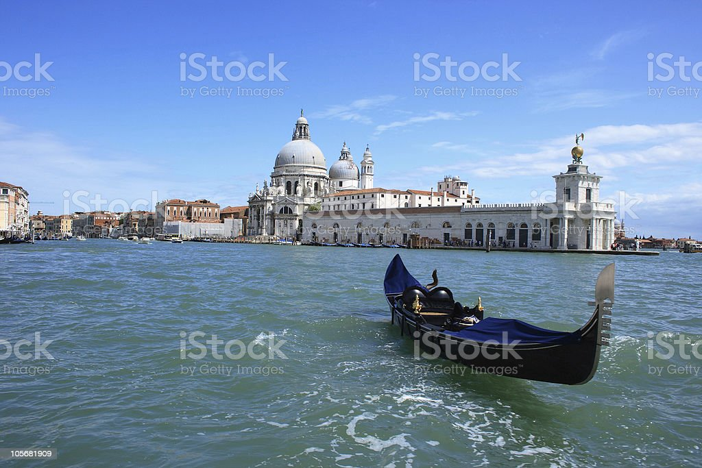 Lost gondola stock photo