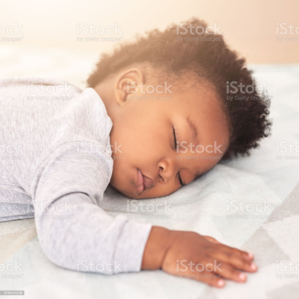 Lost in adorable dreams stock photo