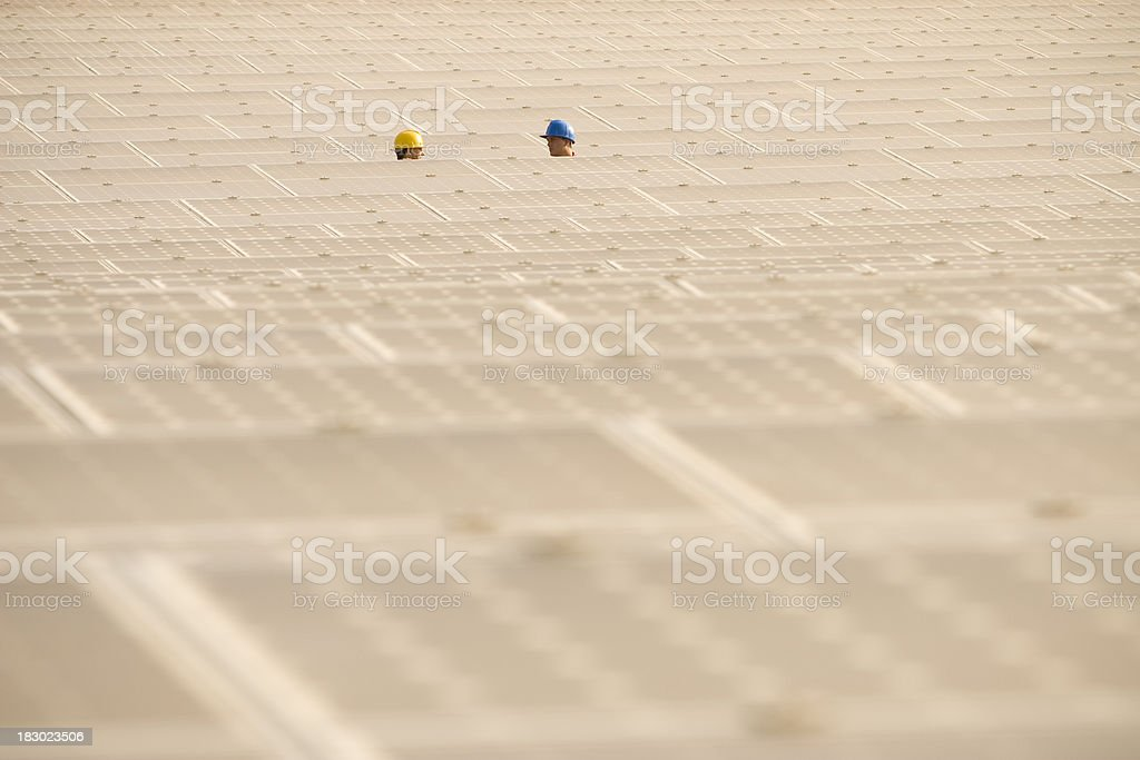 Lost in between solar panels royalty-free stock photo