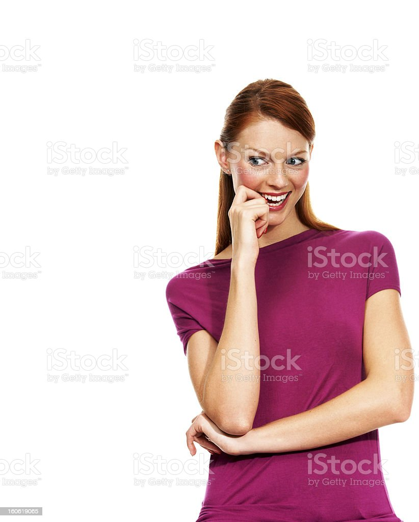 Lost in fun thoughts royalty-free stock photo
