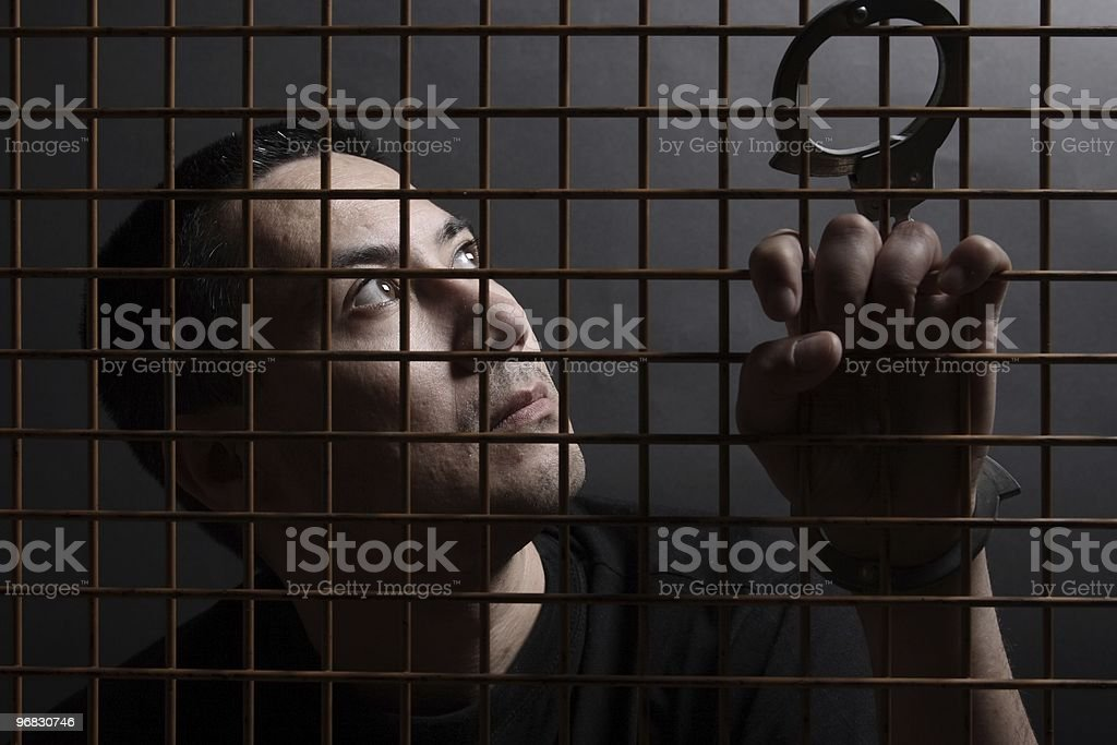 Lost in Jail royalty-free stock photo