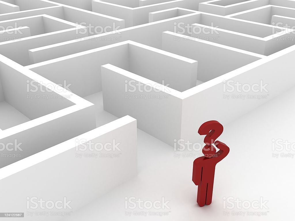 Lost in Labyrinth royalty-free stock photo