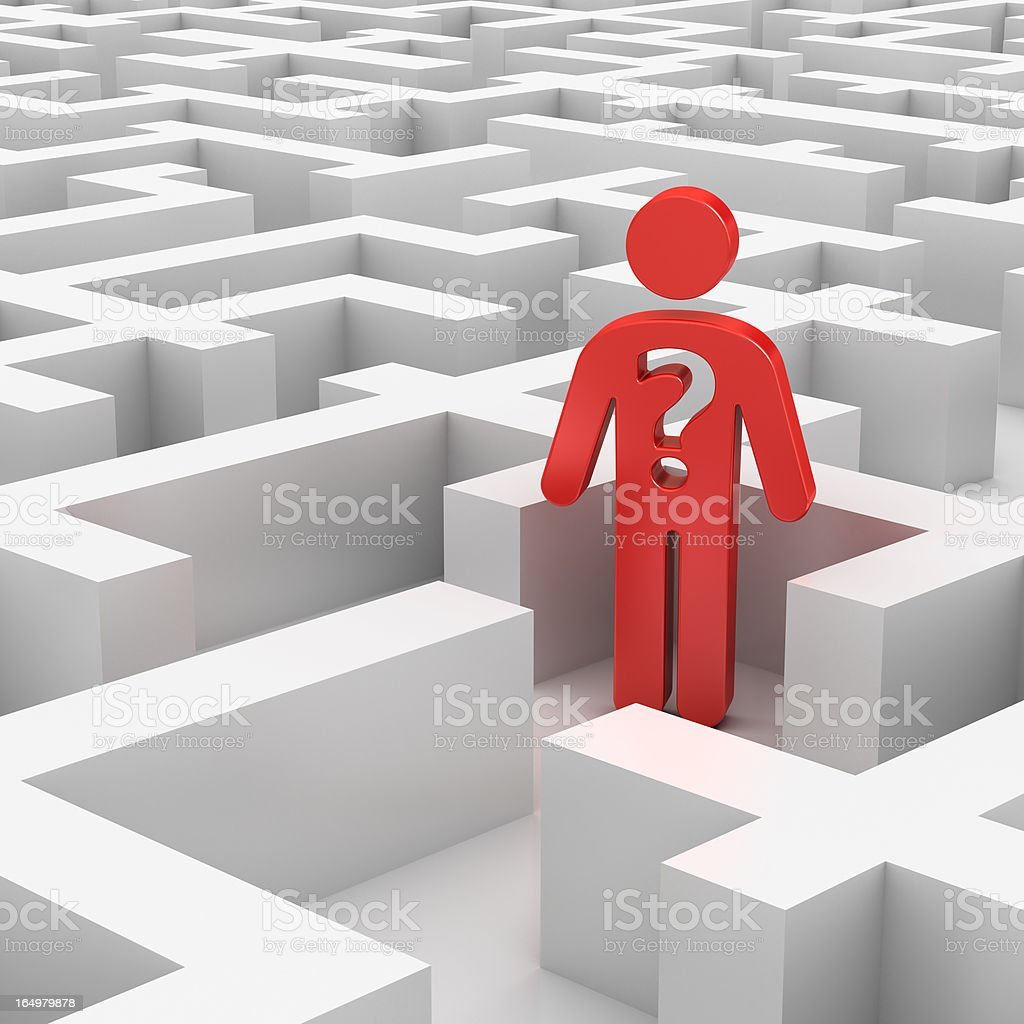 lost in labyrinth stock photo