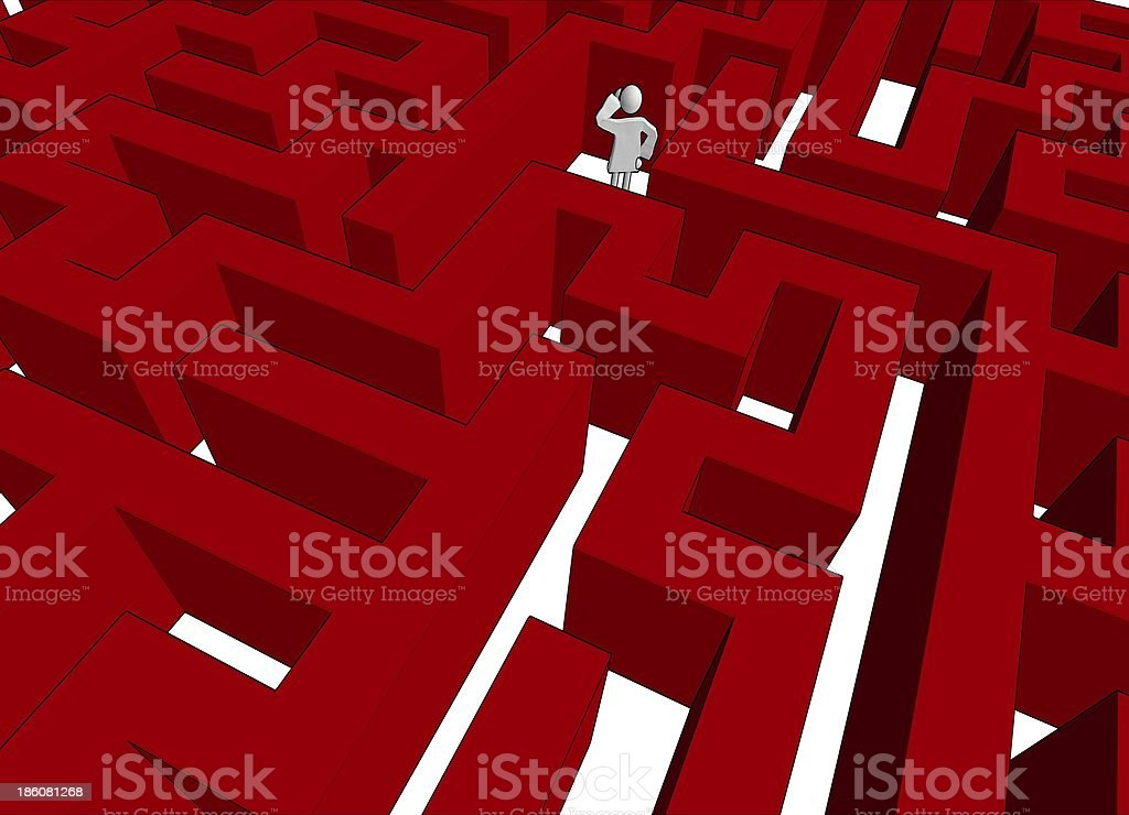 lost in maze royalty-free stock photo