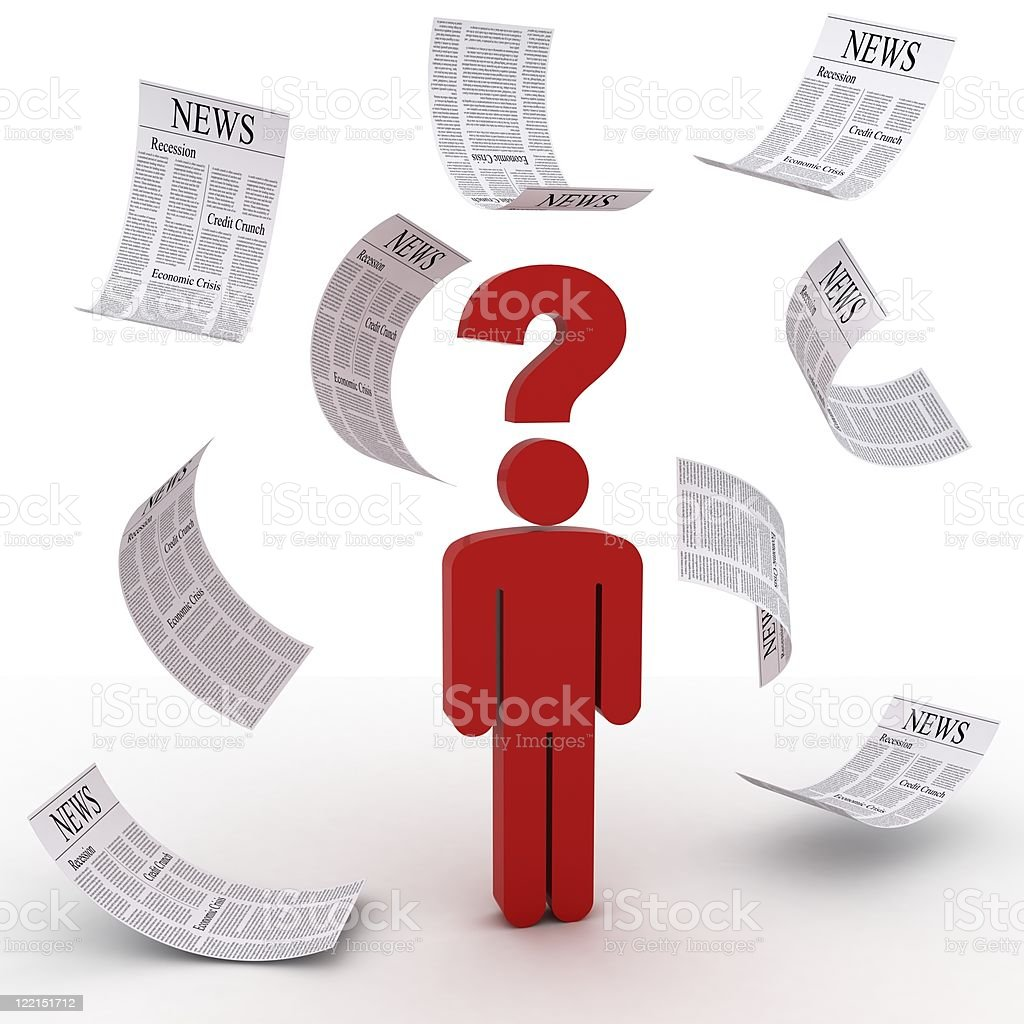 Lost in News royalty-free stock photo