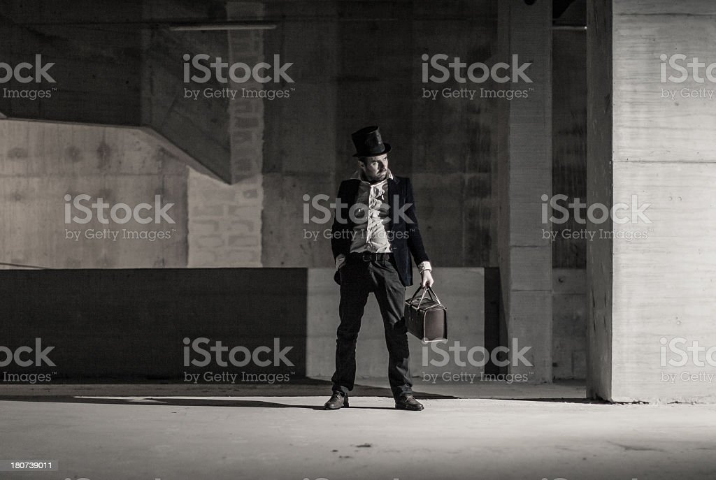 Lost in the dark royalty-free stock photo