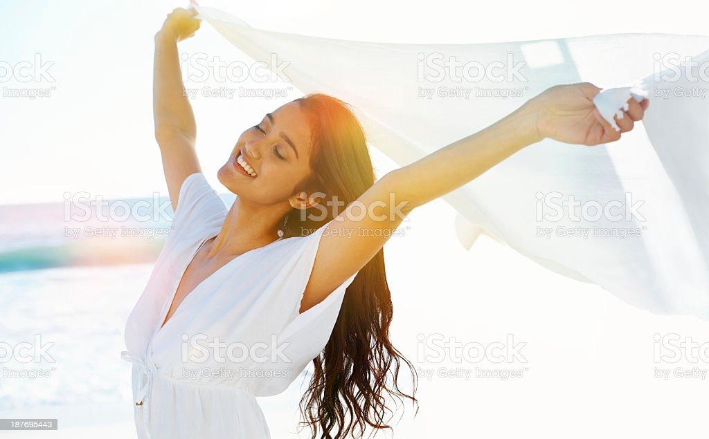 Lost in the sensation of freedom royalty-free stock photo