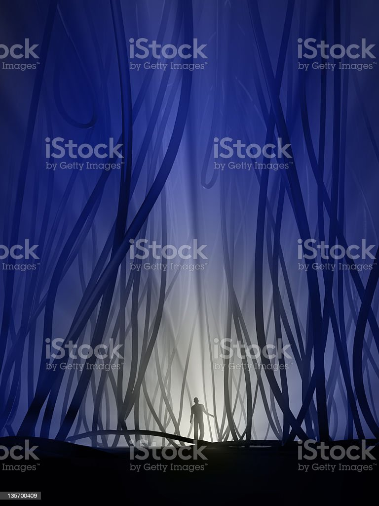 lost in the underground jungle royalty-free stock photo
