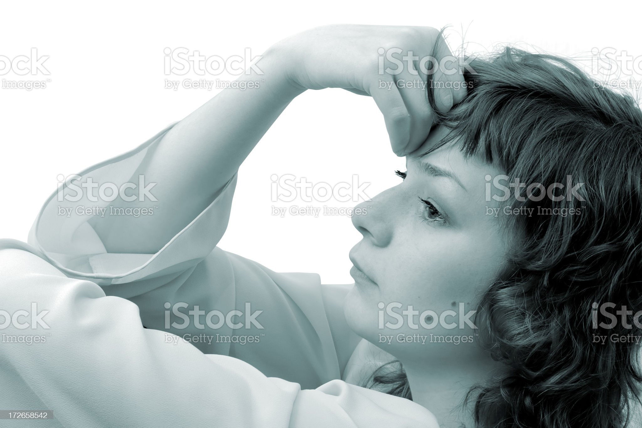 Lost in thoughts royalty-free stock photo