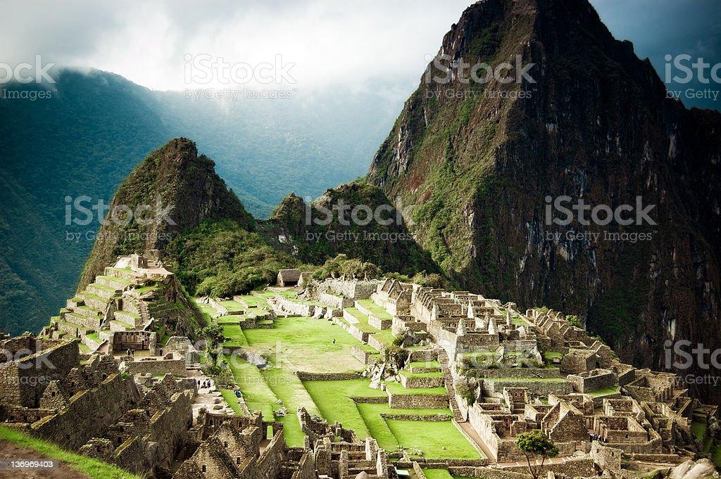 Lost Inca City Machu Picchu royalty-free stock photo