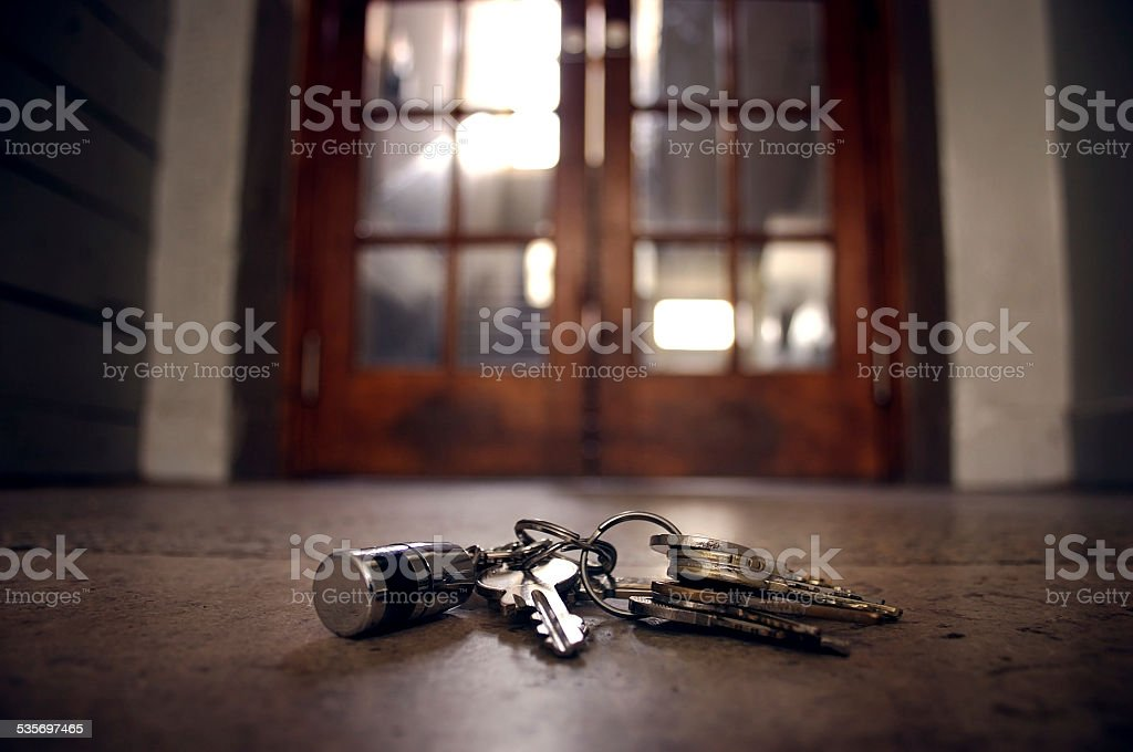 lost keys stock photo