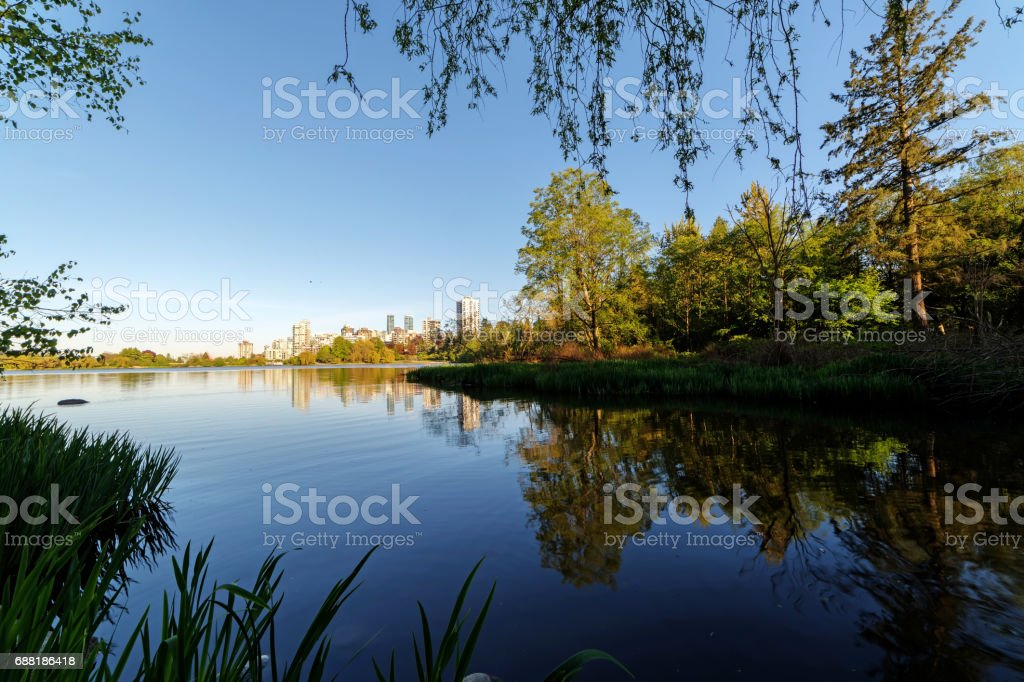 Lost Lagoon in Stanley Park, Vancouver, BC stock photo