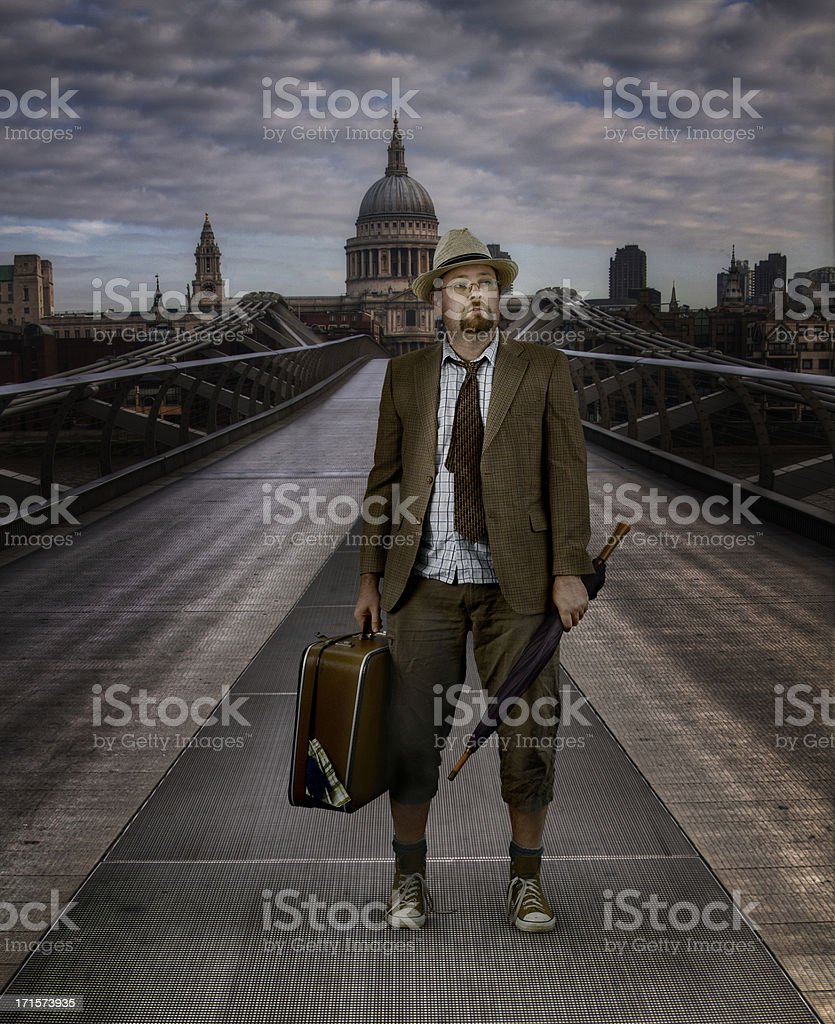 Lost London Businessman royalty-free stock photo